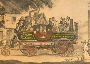 Framed-Vintage-The-New-Steam-Carriage-London-And-Bath-Ca-1920-039-s-Steam-Engine