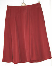 MONSOON (UK14 / EU42) RUST-COLOURED FULLY-LINED FLARED SKIRT