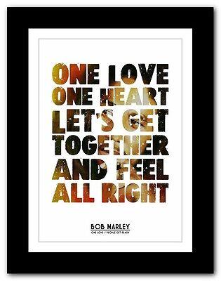 4 sizes ❤ BOB MARLEY Buffalo Soldier ❤ song lyric poster typography art print
