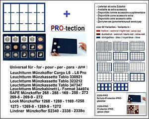 Look-12332-15-50-Plateau-pour-Monnaies-Bleu-15-Carres-Cases-50-mm