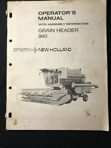 New Holland Operator's Manual Grain Header 960 *491