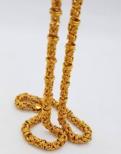 616044825d0 Image is loading BYZANTINE-22-CARAT-YELLOW-GOLD-CHAIN-NECKLACE-HANDMADE-