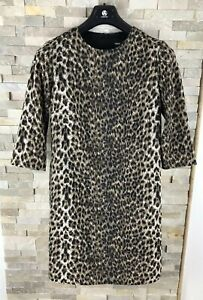 Asos-Ladies-Size-8-Animal-Print-Long-Sleeve-Dress