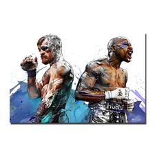 CONOR McGREGOR VS NATE DIAZ UFC 202 MMA Promo Canvas Poster 12x18 24x36inch
