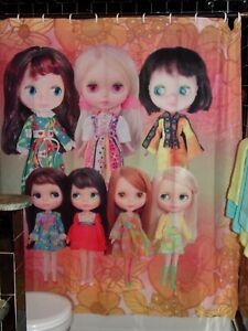 Custom-Vintage-BLYTHE-Dolls-Shower-Curtain-Blythecon-70-039-s-Keane