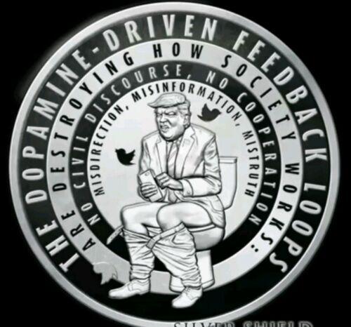 1 oz silver proof Trump Twitter Donald Trump .999 Pure sbss Republican Democrat