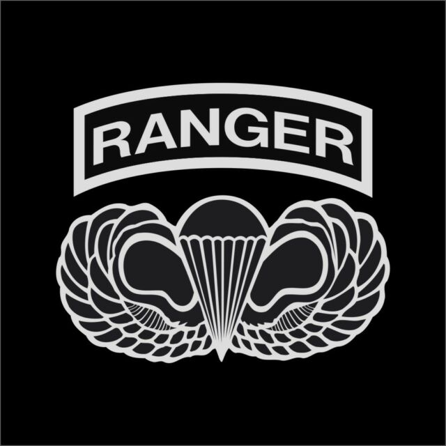 US Army Ranger Airborne Wings Military Vinyl Decal Sticker Window Wall Car
