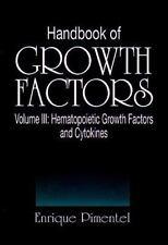 Handbook of Growth Factors Vol. 3 by Enrique Pimentel (1994, Hardcover)