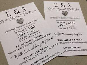 Partecipazioni Matrimonio Harley.Contemporanea Personalizzati Matrimonio Giorno Sera Inviti Glitter
