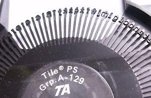 Marguerite machine à écrire TRIUMPH ADLER Typewriter daisy wheel Typenrad