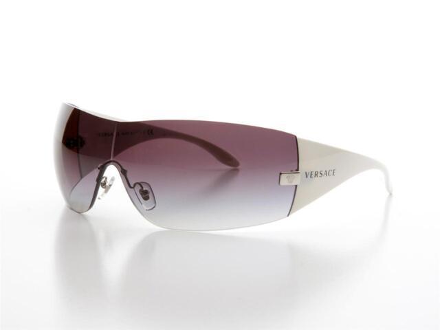 New Authentic VERSACE VE 2054 Sunglasses 1000/8G White Grey Gradient VE2054