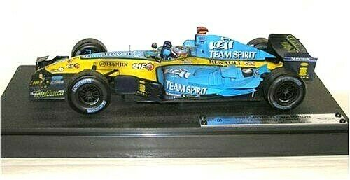 1 18 campeón mundial 2005 Renault F1 Fernando Alonso Hot Wheels Racing  G9750