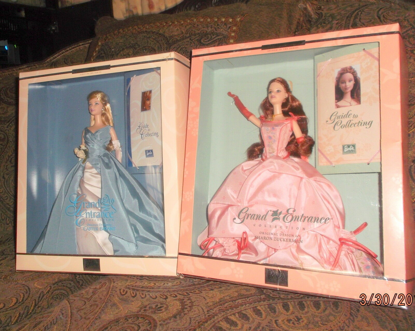 LOT2 GRAND ENTRANCE BARBIES 2000 &2001 COLLECTOR EDITION NRFB