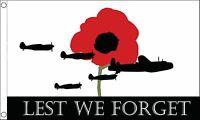 LEST WE FORGET ROYAL AIRFORCE FLAG 3X2 feet 90cm x 60cm FLAGS RAF AIR FORCE