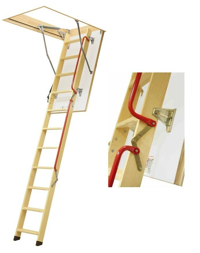 Bodentreppe H280 70x130 Holztreppe 130x70 Speichertreppe LWL Lux FAKRO