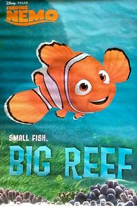 Finding nemo small fish big reef 2003 movie poster ebay image is loading finding nemo small fish big reef 2003 movie altavistaventures Gallery