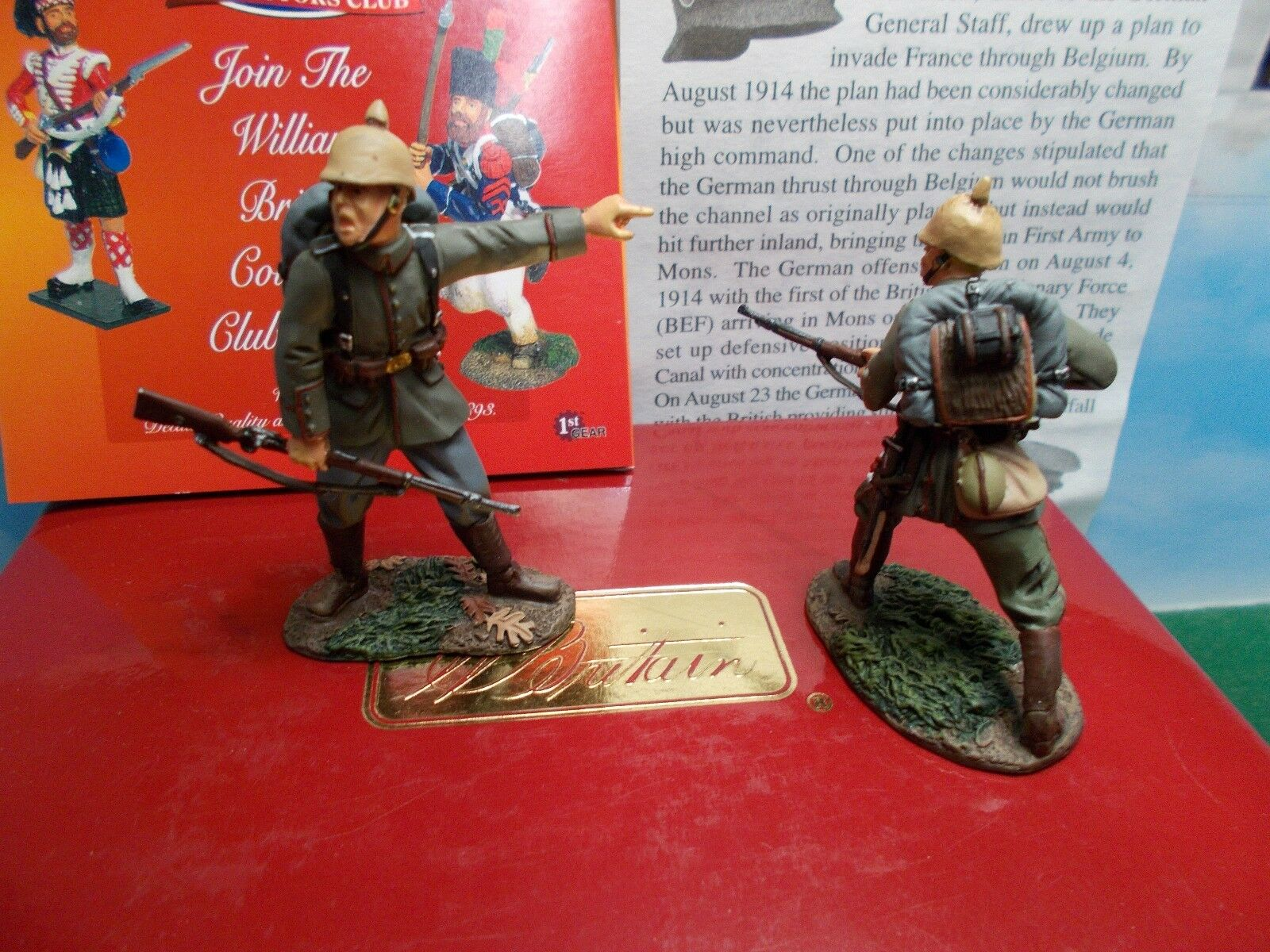 BRITAINS METAL GERMAN WWI TOY SOLDIERS 1 30 SCALE BOXED NEW