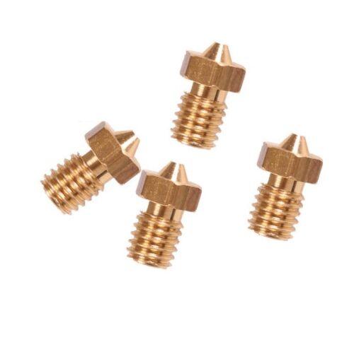 2pcs 0.4mm Copper Extruder Nozzle M6 for 1.75mm Consumable