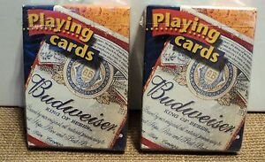 BUDWIESER-PLAYING-CARDS-SET-OF-2-DECKS-SEALED-NEW