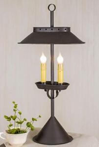 Details About Primitive Large Double Candle Desk Lamp Country Light Lighting