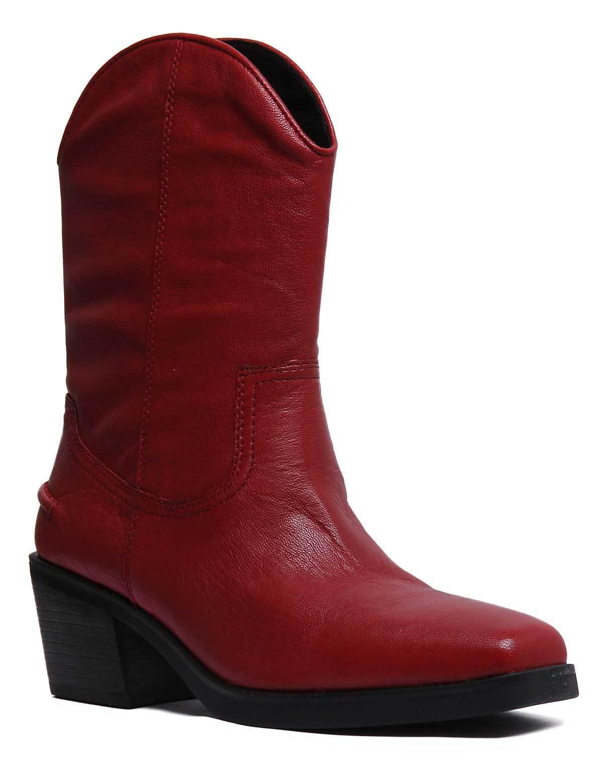 Vagabond Simone Mujer botas occidental de cuero negro tamaño de 8 Reino Unido 3 - 8 de 855cc5