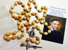 St Vincent De Paul relic rosary & card pray 4 hospitals; leprosy; lost articles