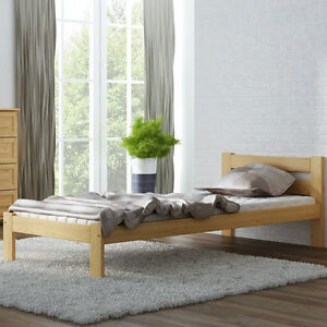 massivholzbett singlebett holz bettgestell jugendbett. Black Bedroom Furniture Sets. Home Design Ideas
