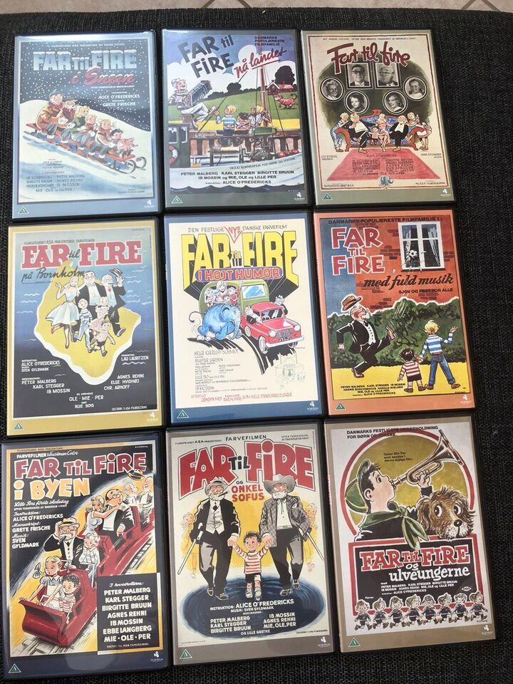 Far til fire-film, både nye og gamle version, DVD