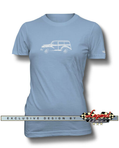 Austin Morris Minor Traveller Woody Wagon T-Shirt for Women Multi Colors /& Sizes