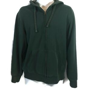 Mens-Outdoor-Life-Hooded-Jacket-Full-Zip-Jacket-Green-Size-Medium