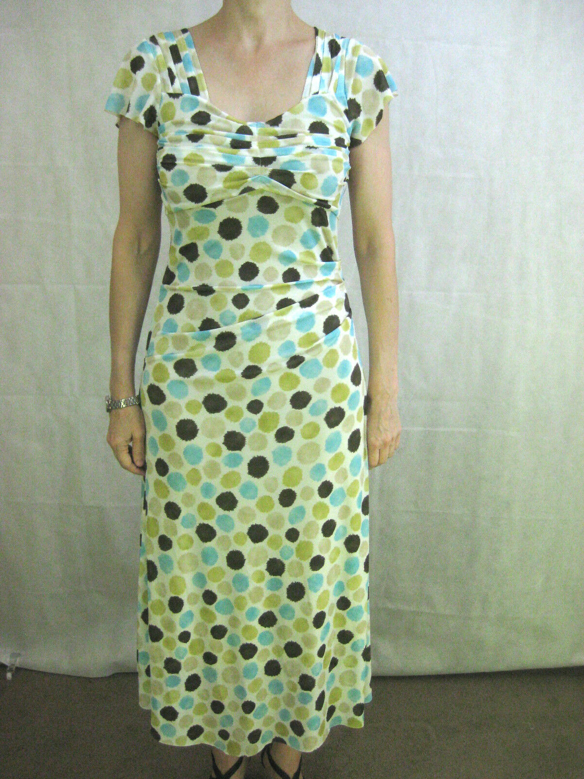 Von Troska Size S White Tea Length Dress