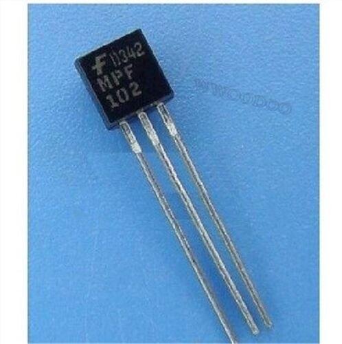 2Pcs Rf Jfet Transistor Fairchild//On TO-92 MPF102 MPF102G tt