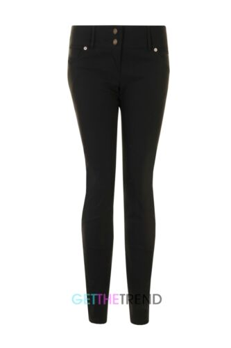 GIRLS BLACK SCHOOL SUPER SKINNY HIPSTER TROUSERS MISS SEXIES POCKET TROUSERS