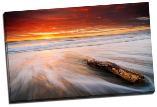 80x50x3cm Framed Canvas Prints Ocean Sea Time Lapse Photo Big Wall Art