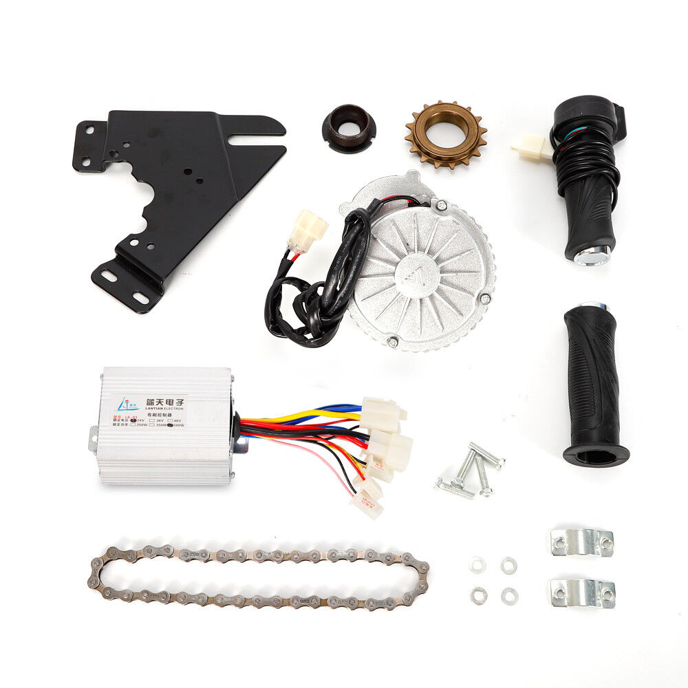 450W 24V Electric Bike Conversion Kit Left Chain  Drive Rare Earth DC Motor New    low prices
