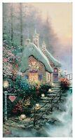 Thomas Kinkade - Sweetheart Cottage Ii – 31 X 16 Gallery Wrapped Canvas