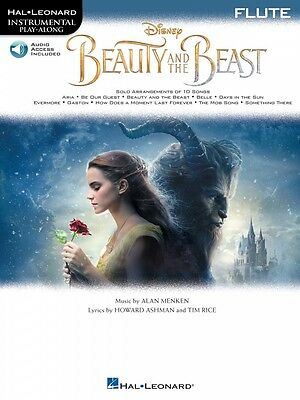 Musical Instruments & Gear Wind & Woodwinds Straightforward Beauty And The Beast Flute Instrumental Play-along Book And Audio New 000236227