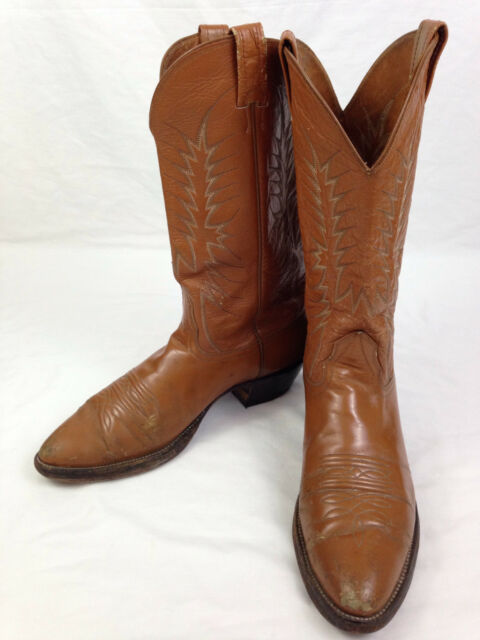 Nocona Boots Mens 11.5 B Size Brown Leather Roper Cowboy Western Rodeo 8617C