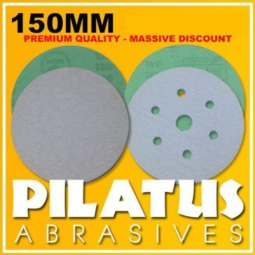 100 x 150MM FUJI STAR HOOK & LOOP SANDING DISCS 400 GRIT 6 HOLES