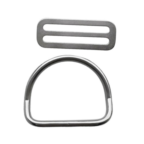 Stainless Steel Scuba Diving Snorkeling 50mm Weight Belt Keeper with D Ring