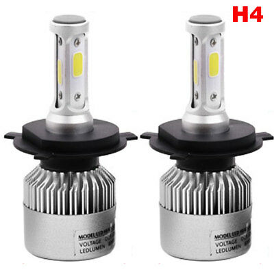 Nw 2pc Super Bright Cob H4 S2 8000lm 72w Led Car Headlight Fog Light Lamp Bulb Ebay