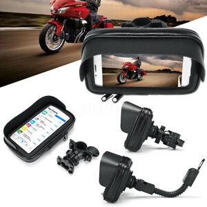 Montaje-Manillar-Moto-Bicicleta-Bicicleta-Impermeable-Soporte-GPS-Telefono-Caso-Bolsa