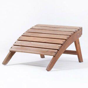 Image Is Loading Wooden Garden Stool Adirondack Hardwood Outdoor  Folding Footstool