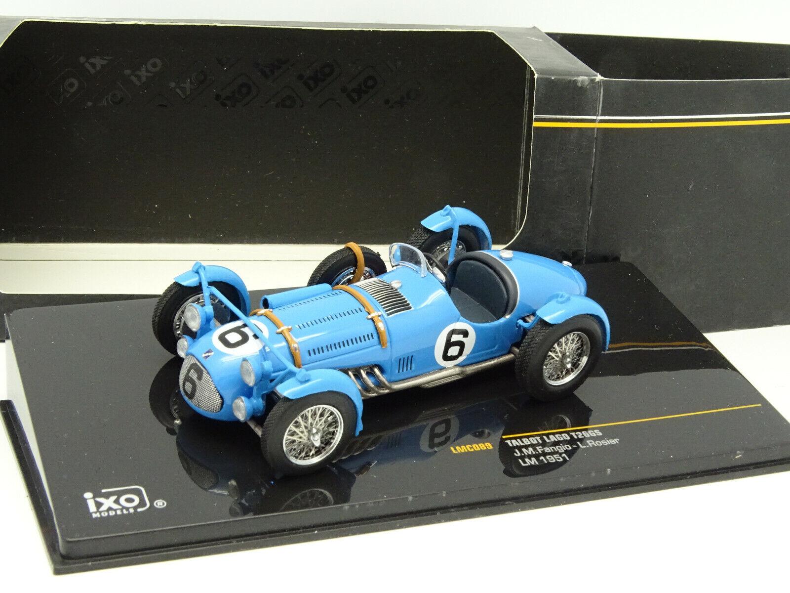 IXO 1 43 - Talbot Lago t26gs Fangio mans 1951 N 6