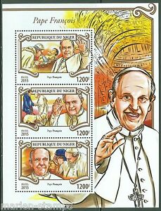 NIGER-2015-POPE-FRANCIS-SHEET-MINT-NEVER-HINGED