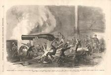 Explosion on the Gunboat Iroquois From Fort Jackson  -  Civil War   -   1862