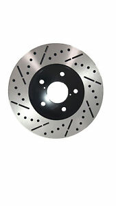 Front-Premium-E-Coat-Drill-amp-Slot-Brake-Rotors-Ceramic-Pads-Fit-09-14-Acura-TL