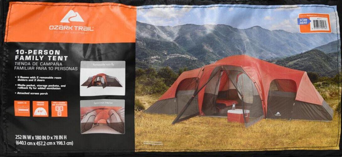 Carpa familiar para 10 personas 3-habitación al aire libre vacaciones en familia instantánea tipo cabaña tiendas de campaña