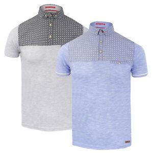 Mens Brave Soul  Cyclone  Collared Polo Shirt Short Sleeve T Shirt ... f549baf9d3ba0