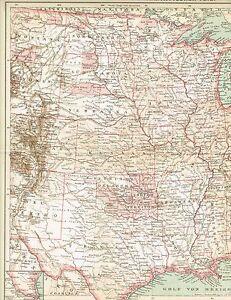 Karte Usa Westen.Karte Usa Mittlerer Westen Nebraska Kansas Texas 1895